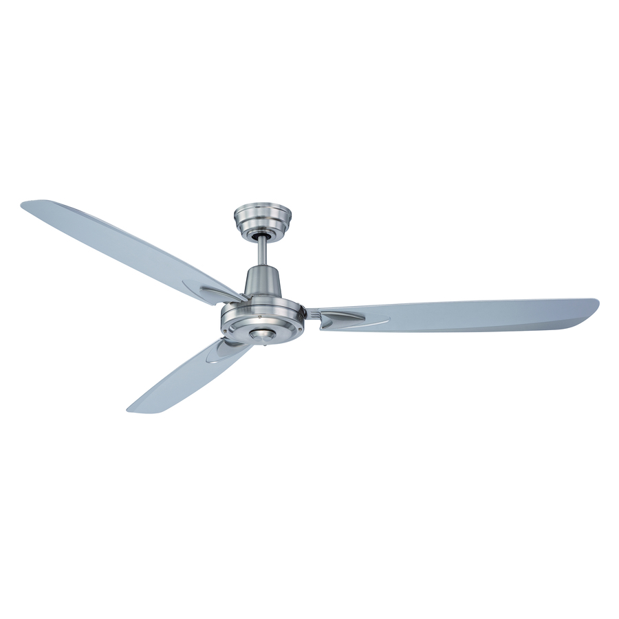 Velocity 58-in Brushed Nickel Indoor Ceiling Fan with Wall-Mounted Remote (3-Blade) | - Craftmade VE58BNK3