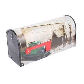 S.A.W. 7-In X 9-In Metal Vintage Truck Post Mount Mailbox...