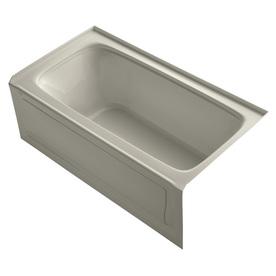 Kohler Bancroft 60-In Sandbar Acrylic Alcove Bathtub With...