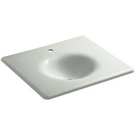 Kohler Impressions Sea Salt Cast Iron Oval Bathroom Sink ...