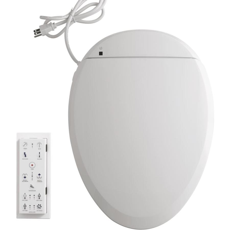 Kohler C3 200 White Elongated Bidet Toilet Seat In The Toilet Seats Department At Lowes Com