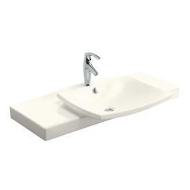 Kohler Escale Biscuit Fire Clay Integral Bathroom Vanity ...