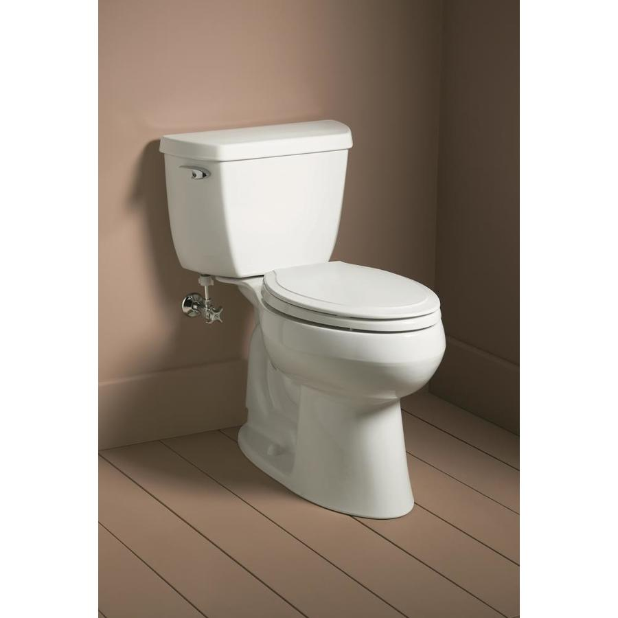 Kohler Rutledge White Elongated Slow Close Toilet Seat In The Toilet Seats Department At Lowes Com