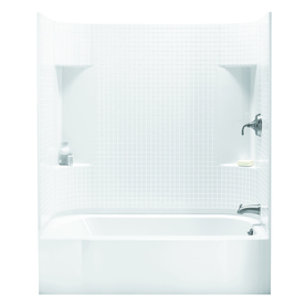 Shop Sterling Accord White Vikrell Wall And Floor 4 Piece