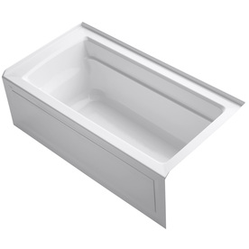 Kohler Archer White Acrylic Rectangular Drop-In Bathtub W...