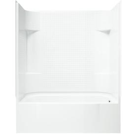 Sterling Accord Afd White 4-Piece Alcove Shower Kit (Comm...