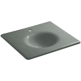 Kohler Impressions Basalt Cast Iron Oval Bathroom Sink 30...