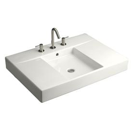 Kohler ladena vitreous china undermount bathroom sink with for Kohler ladena white undermount rectangular bathroom sink with overflow