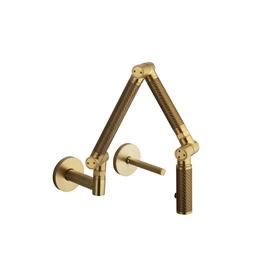 kohler karbon vibrant moderne brushed gold high arc kitchen faucet. Black Bedroom Furniture Sets. Home Design Ideas