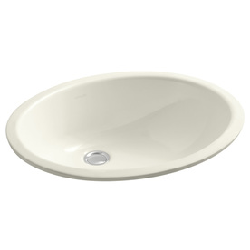 Display Product Reviews For Caxton Biscuit Undermount Oval Bathroom Sink  With Overflow