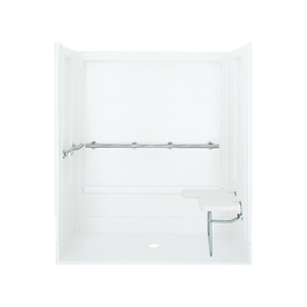 Sterling White 4-Piece Alcove Shower Kit (Common: 40-In X...
