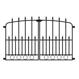 Shop No Dig Powder Coated Steel Decorative Fence Gate At