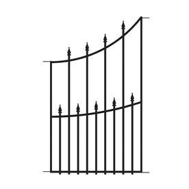 Shop No Dig Black Powder Coated Steel Fence Panel Common