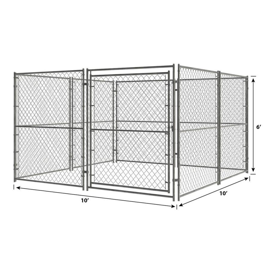 Pet Sentinel 10 Ft L X 10 Ft W X 6 Ft H Preassembled Kit Pet Kennel In The Pet Kennels Department At Lowes Com
