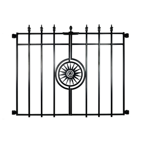 Shop No Dig Powder Coated Steel Fence Gate Common 27 In