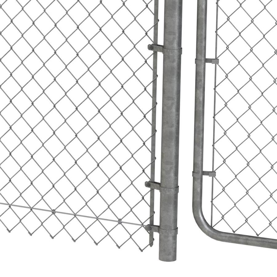 4 Ft H X 6 Ft W Galvanized Steel Chain Link Fence Gate In The Chain Link Fence Gates Department At Lowes Com