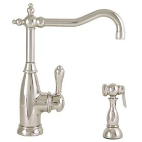 Mico designs simone polished nickel 1 handle high arc sink - Mico designs seashore kitchen faucet ...