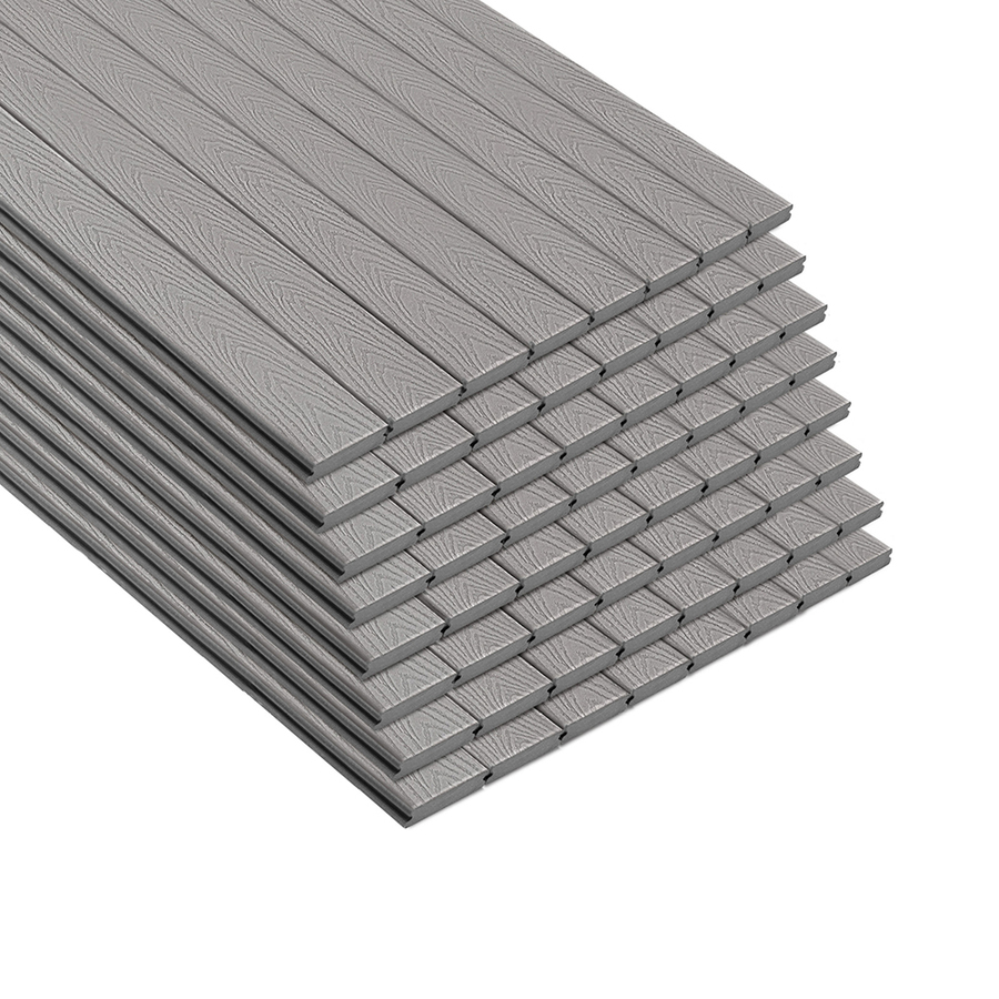 Trex Select 12-ft Pebble Grey Grooved Composite Deck Board in Gray | 674164