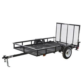 Carry-On Trailer 5-Ft X 8-Ft Wire Mesh Utility Trailer Wi...
