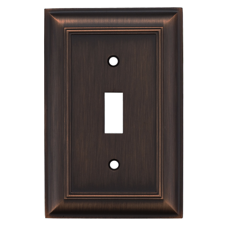 Shop Allen Roth 1 Gang Oil Rubbed Bronze Standard Toggle
