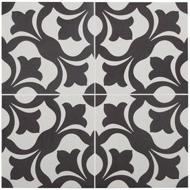 Stainmaster Florence 1-Piece 9-In X 9-In Groutable Black And White Peel And Stick Vinyl Tile Lss2737dps