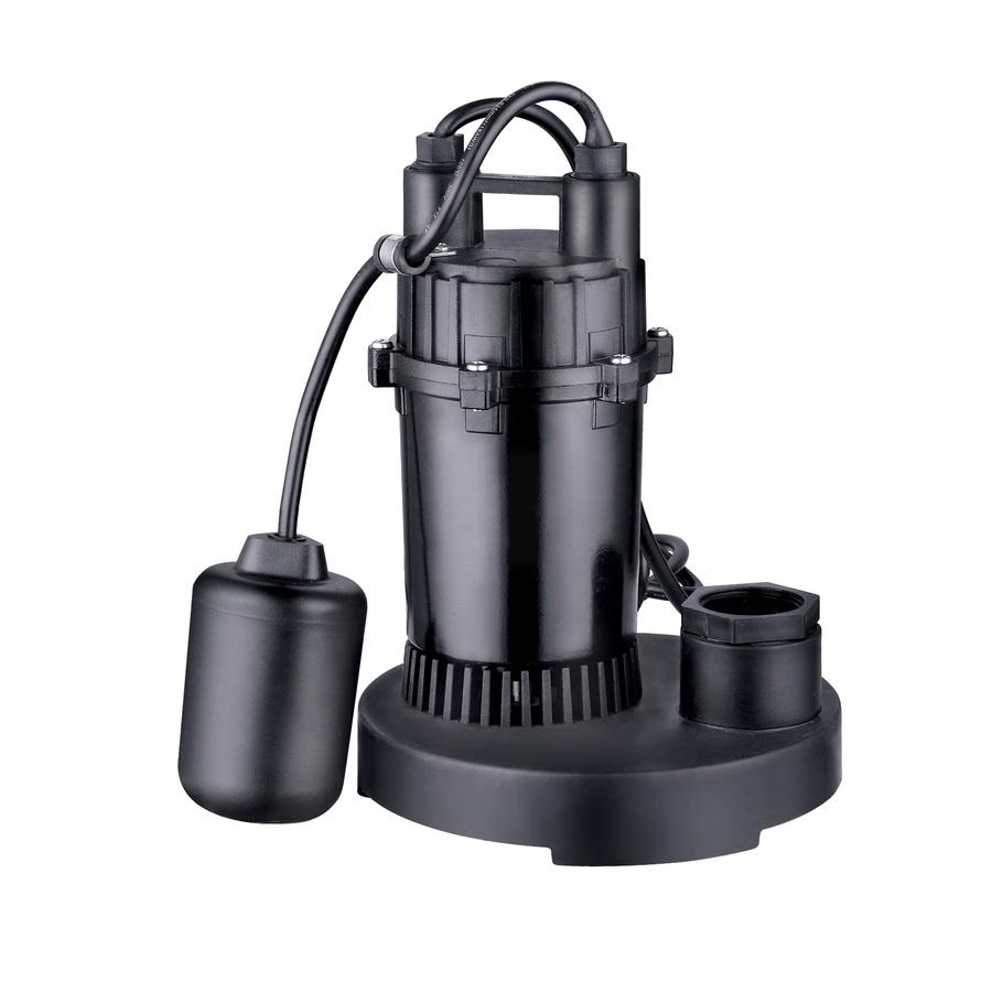 Utilitech 0.33-HP 115-Volt Aluminum Submersible Sump Pump | PPSP33