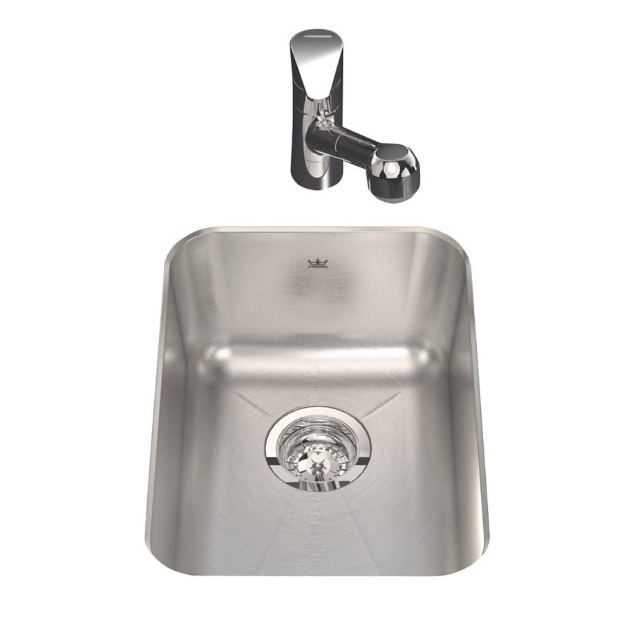 Shop Kindred Single Basin Undermount Stainless Steel Bar