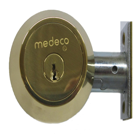 Maxum Polished 605 Key Control Deadbolt - Medeco ME11-0102-00-605