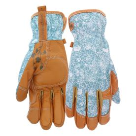High Quality Display Product Reviews For Womenu0027s Medium Beige/Turquoise Leather Garden  Gloves