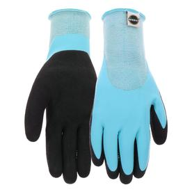 Display Product Reviews For Womenu0027s Medium Blue/Black Rubber Garden Gloves
