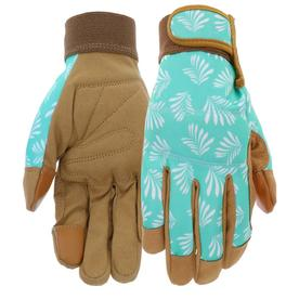 Superbe Display Product Reviews For Womenu0027s Medium Blue/Tan Leather Garden Gloves