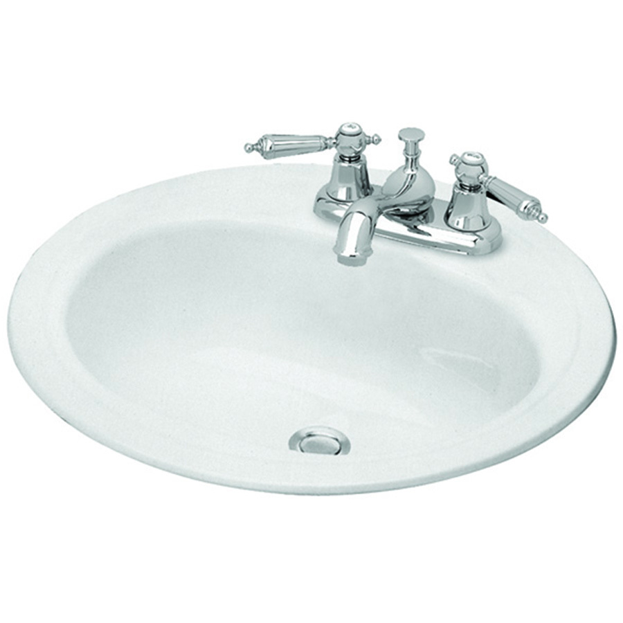 Classy White Porcelain Enameled Steel Drop-In Round ...
