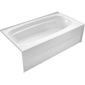 Delta Styla 53.875-In White Acrylic Skirted Bathtub With ...