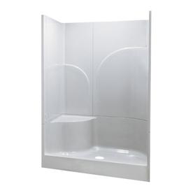 "Shop Aqua Glass 47-5/8""H x 78-3/8""W x 35""L White 1-Piece ..."