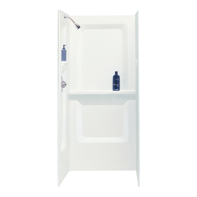 EL MUSTEE & SONS Durawall White Shower Wall Surround Side...