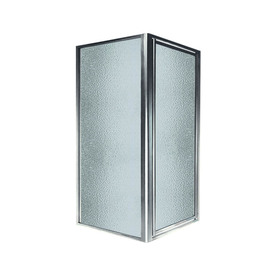 Swanstone 36-In To 36-In W Framed Polished Chrome Hinged ...