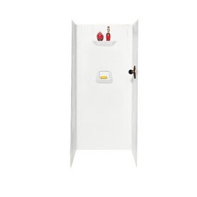 Swanstone White Shower Wall Surround Side And Back Wall K...