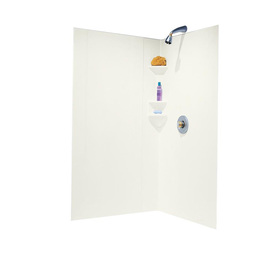 Swanstone Bisque Shower Wall Surround Corner Wall Kit (Co...