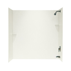 Swanstone Bisque Solid Surface Bathtub Wall Surround (Com...