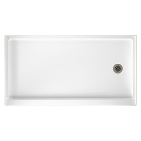 Swanstone White Veritek Shower Base (Common: 32-In W X 60...