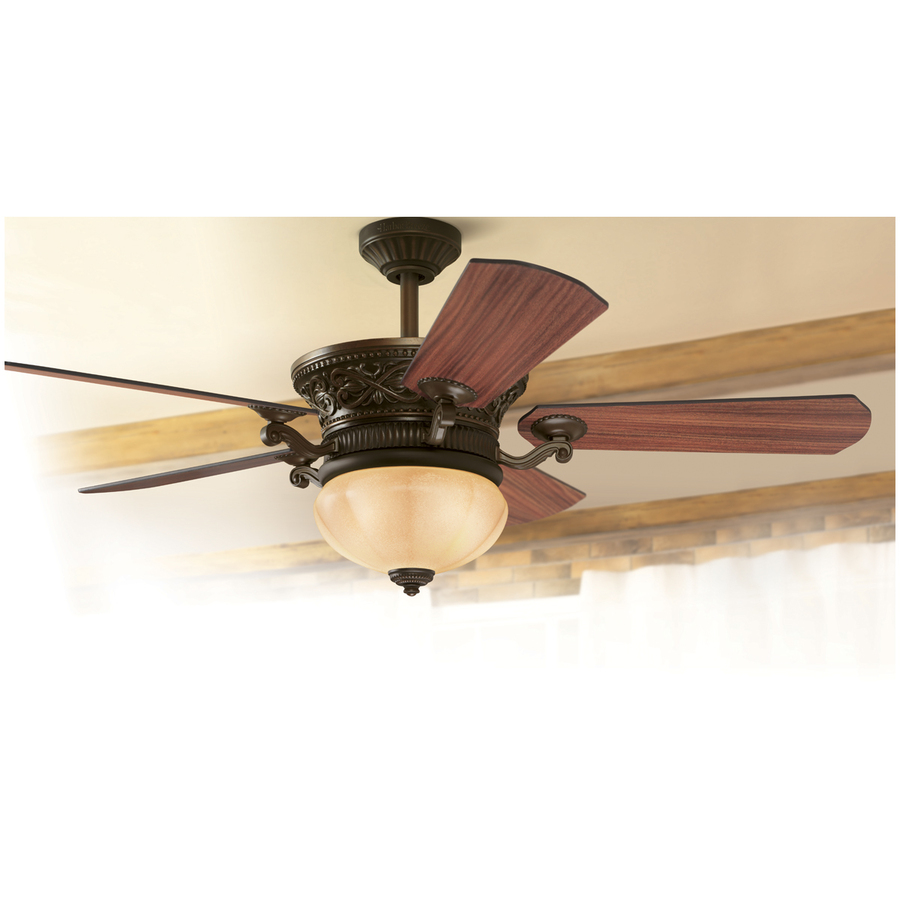 Harbor Breeze Platinum Wakefield 52 In Guilded Espresso Ceiling Fan With Light Remote Control And Light Kit 5 Blade In The Ceiling Fans Department At Lowes Com