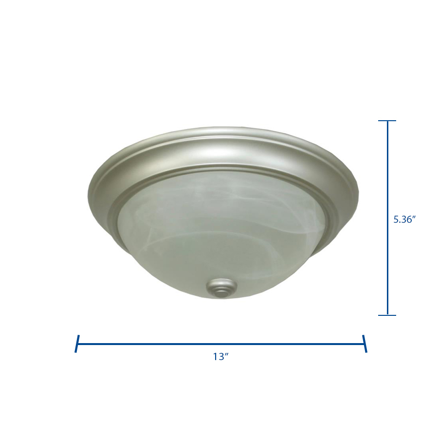 Project Source 11-Pack 11-in Satin Nickel Traditional Flush Mount Light