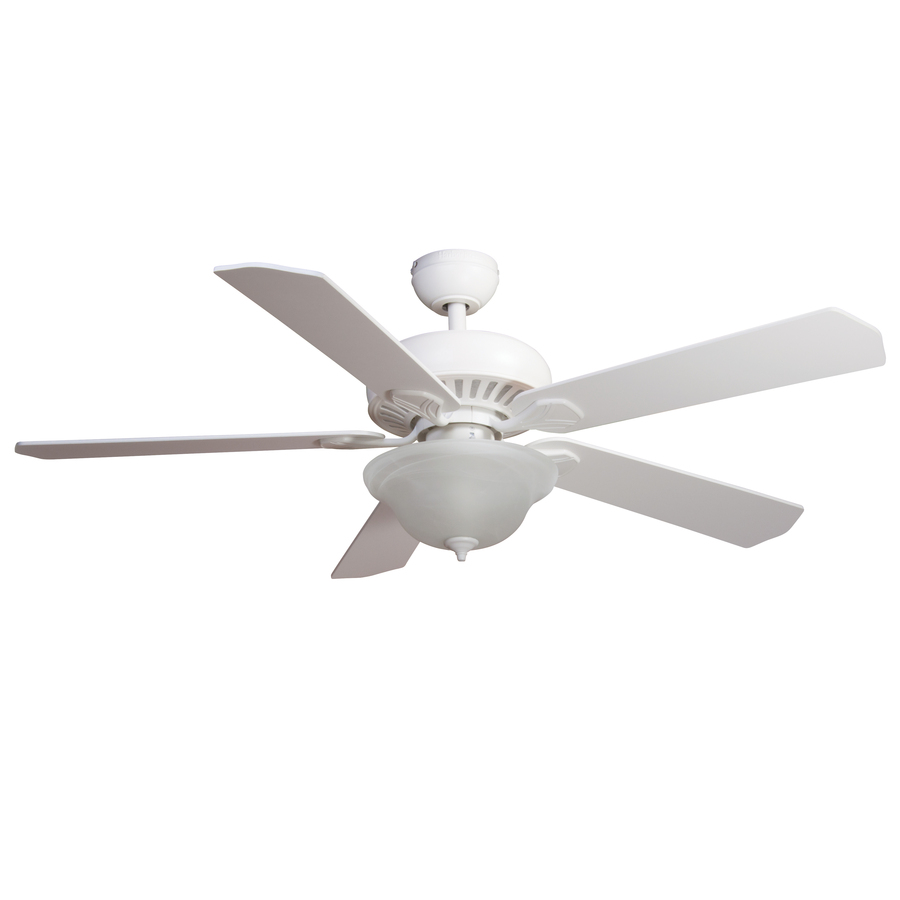 Harbor Breeze 52 In White Downrod Or Close Mount Indoor Ceiling Fan With Light Kit And Remote