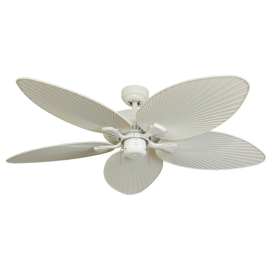Lowes Ceiling Fans Flush Mount: Shop Palm Coast Tavernier 52-in White Outdoor Downrod Or