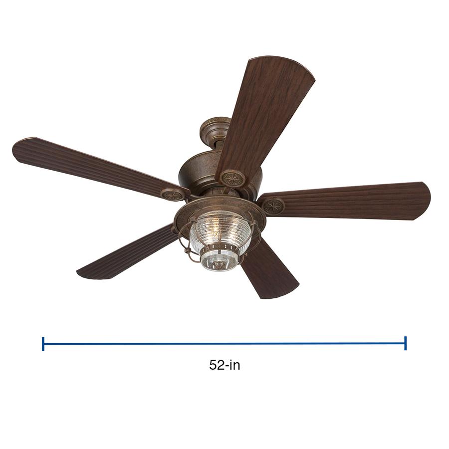 Harbor Breeze Merrimack Antique Bronze 52 In Indoor Outdoor Ceiling Fan 5 Blade In The Ceiling Fans Department At Lowes Com