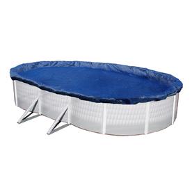 Blue Wave 42-Ft X 22-Ft Gold Polyethylene Winter Pool Cov...