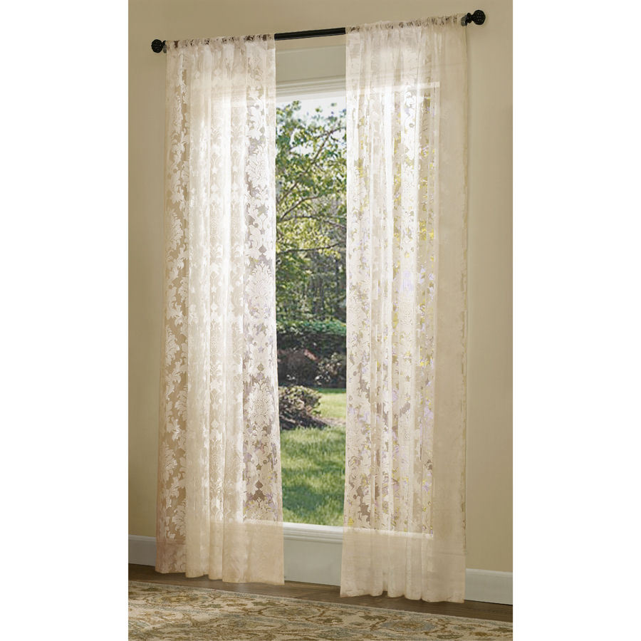 Shop Allen + Roth Bristol Sheer Curtain 84-in L Solid