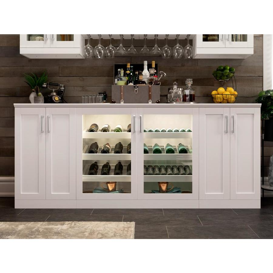 Newage Products Home Bar 63 In X 85 In White Rectangle Bar Cabinet In The Home Bars Department At Lowes Com
