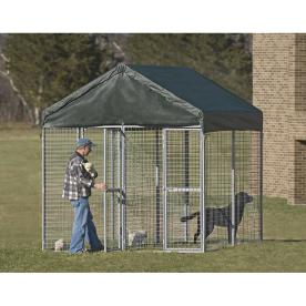 Say goodbye to the hassle and frustration involved in conventional chain link kennel assembly. The unique, patented design of the MidWest® K-9 Kennel with Sunscreen requires only 30 minutes to set up from start to finish! Rounded corner construction eliminates the need for traditional hardware or complicated tools — only pliers are needed.