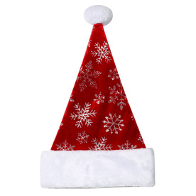 Holiday Living One Size Fits All Velvet Traditional Santa Hat 04087871LO